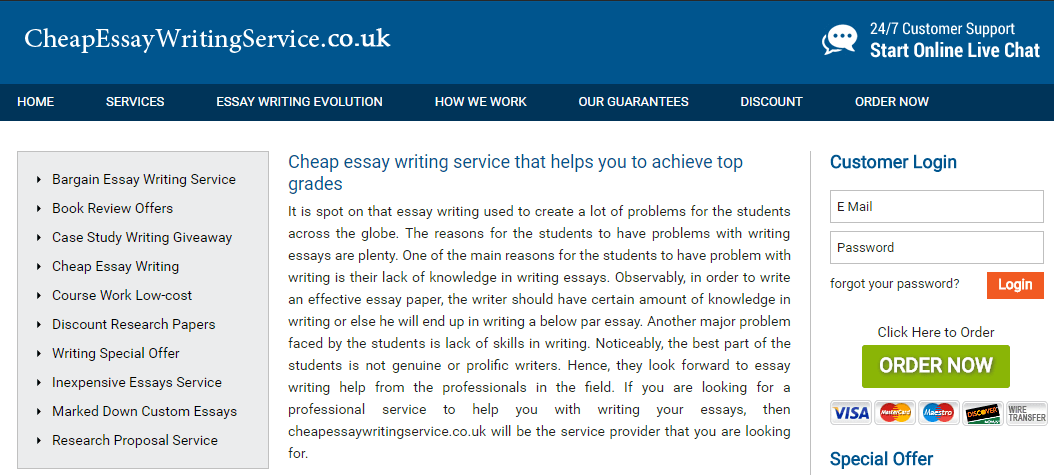 Cheap essay writing service uk