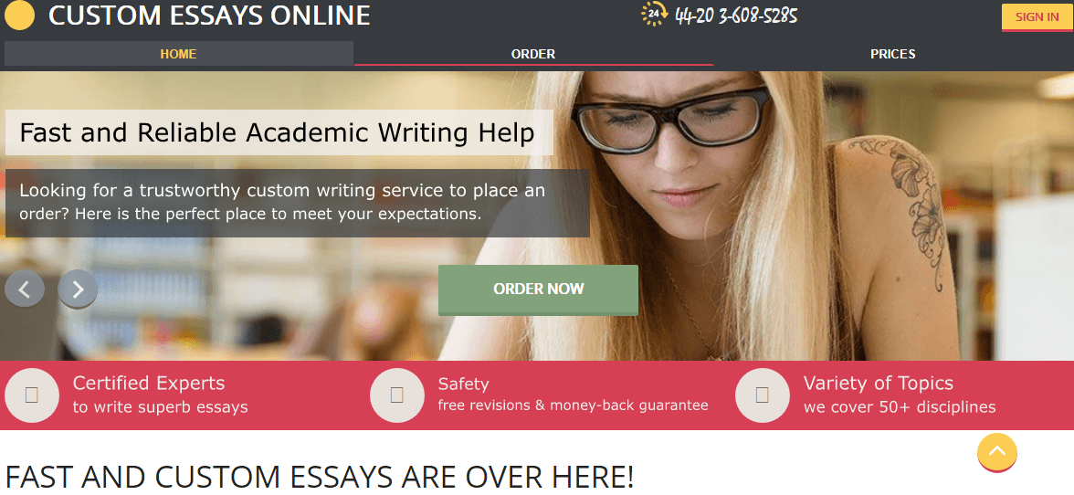 Top custom essays uk