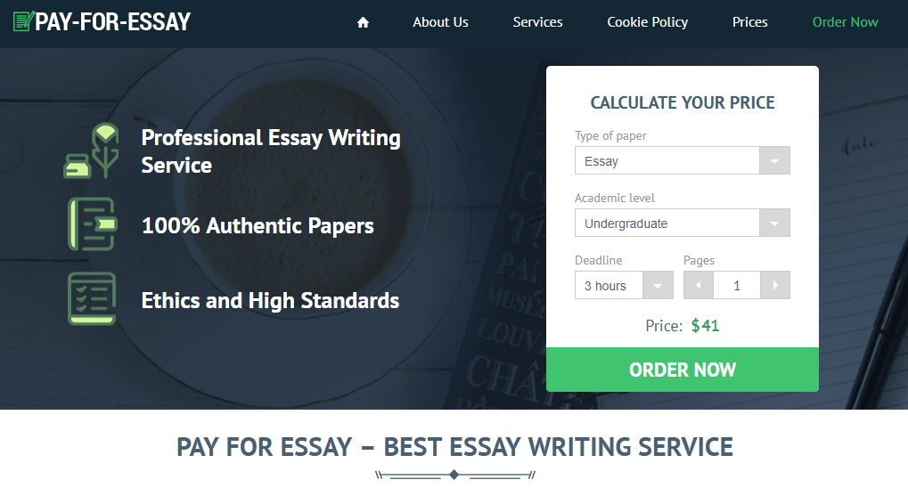 Essay for pay