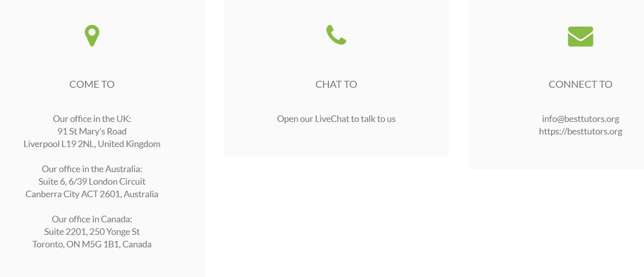 besttutors.org customer support